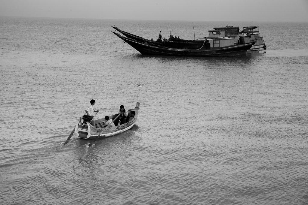 Wassertaxi, Sittwe, Myanmar 2015